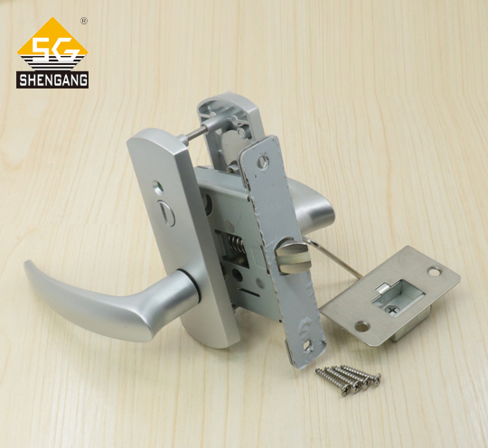 SG-LRS01L02日本通用型静音门锁具松下大建通世泰木门简约连体锁