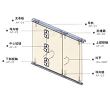 日本通世泰款式室内门厨房折叠门五金SG-FD006
