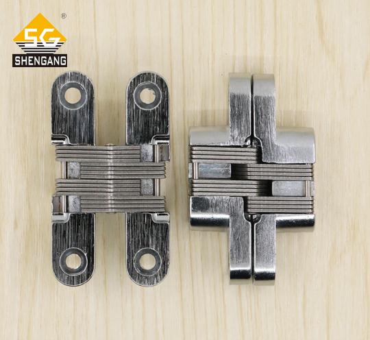 SG-HC104#02推荐翻板衣柜门纱窗锌合金隐形十字铰链合页,厂家订制