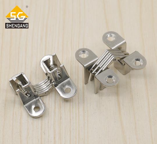 SG-HC104#01SS车载冰箱门304不锈钢隐藏隐形十字铰链合页暗铰链