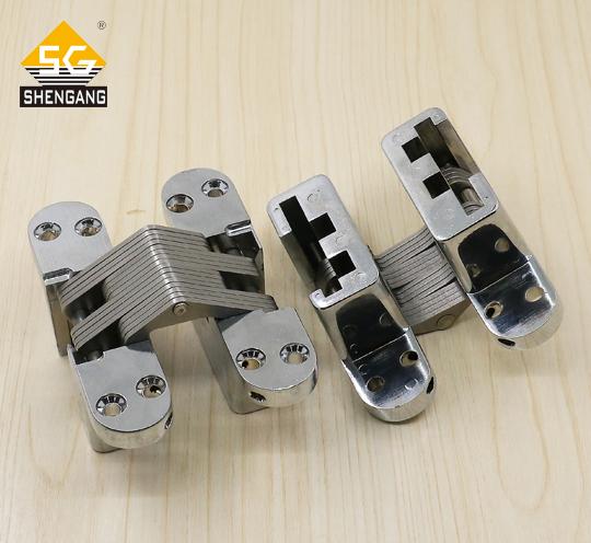 SG-HC104#06推荐室内木门暗门保险柜门锌合金隐形十字铰链合页,厂家订制