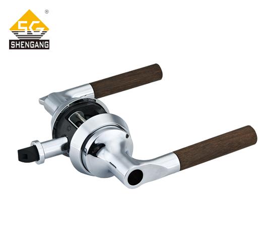 SG-L-KZ005室内木门机械门锁铝合金快装锁一体式锁具