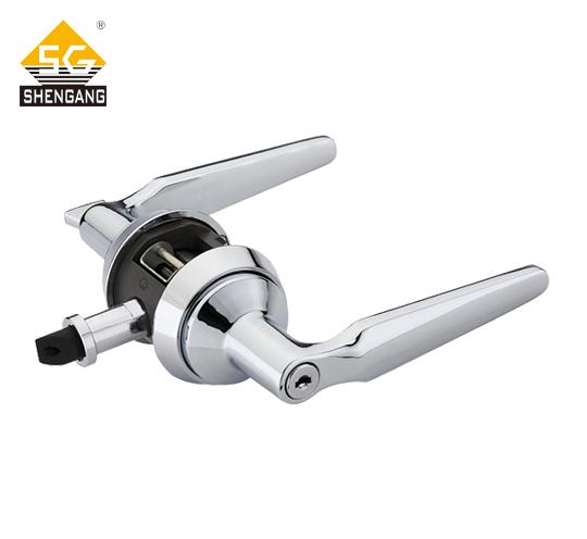 SG-L-KZ006室内木门欧式风格机械门锁铝合金快装锁一体式锁