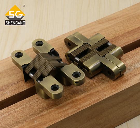 SG-HC104#04折叠门木门暗藏式隐形十字铰链合页暗铰链