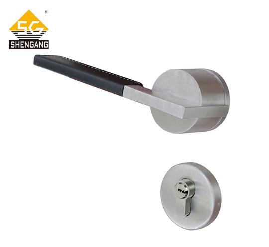 SG-L-Z-F1828户内门不锈钢把手门锁高档工程家装门锁